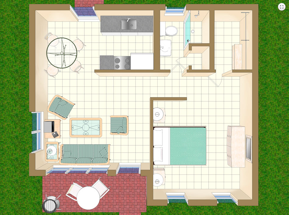 Floor Plan for Villa V