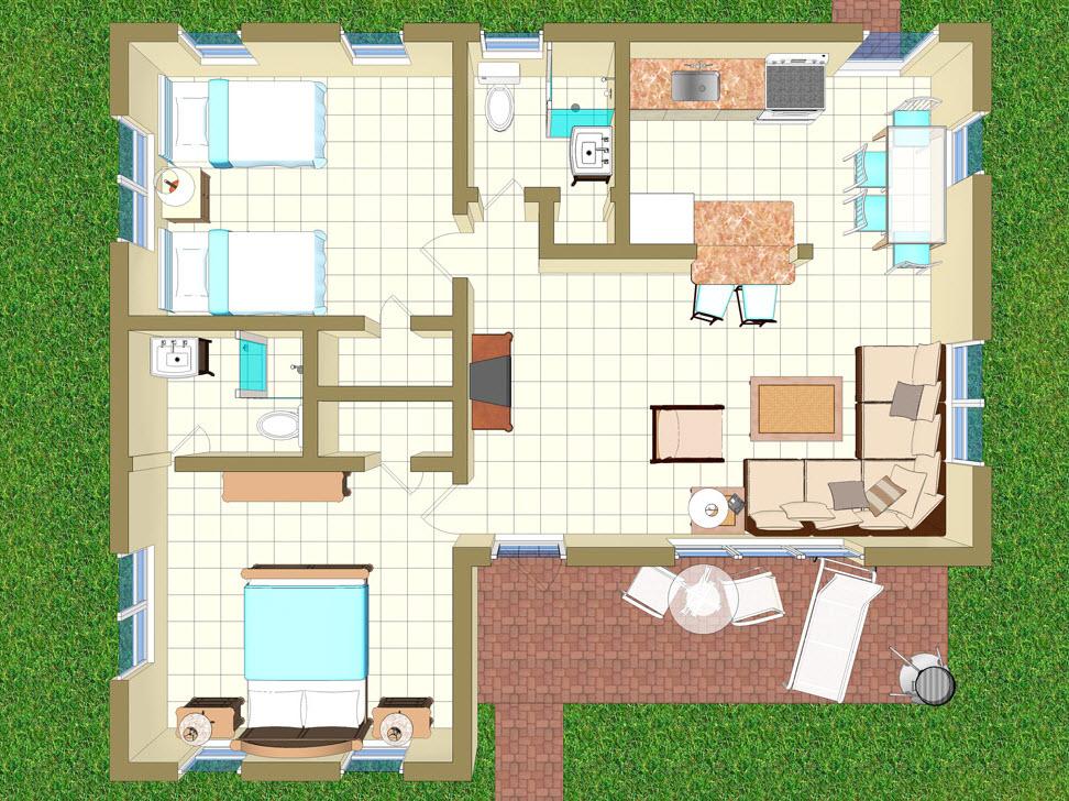 Floor Plan for Villa KK
