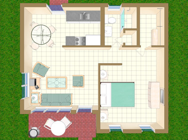 Floor Plan for Villa R