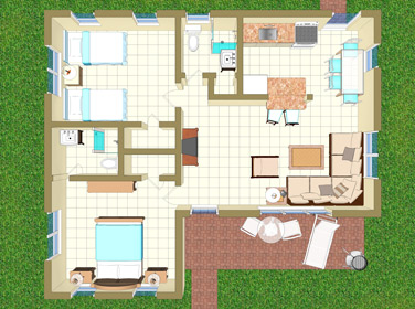 Floor Plan for Villa B